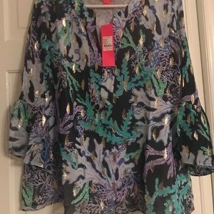 Nwt Lilly PulitZer Elenora Top size medium